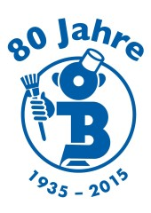 Jubiläums Logo OB Mann 80 Jahre