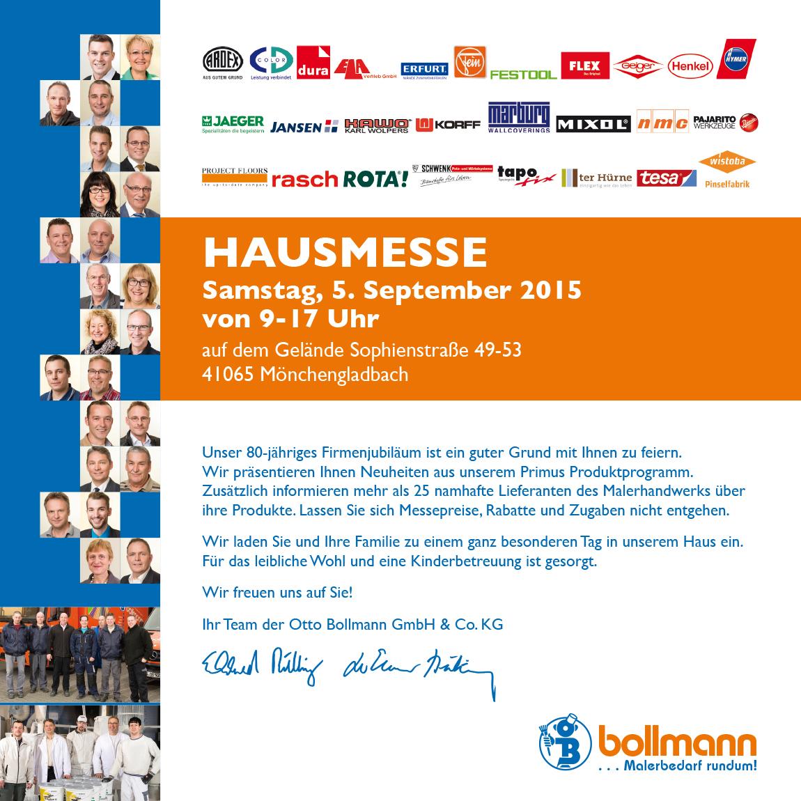 Hausmesse 2015 Einladung